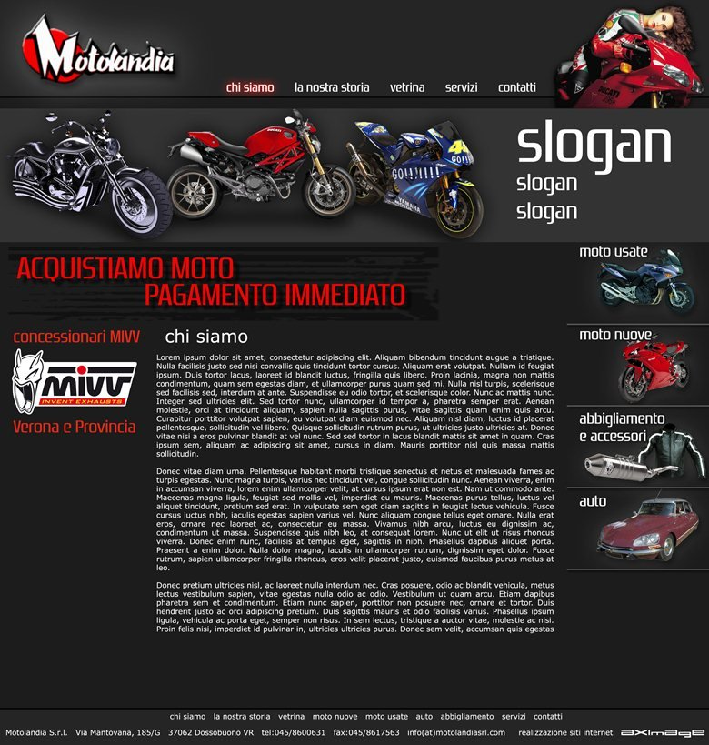 sito web Motolandia srl