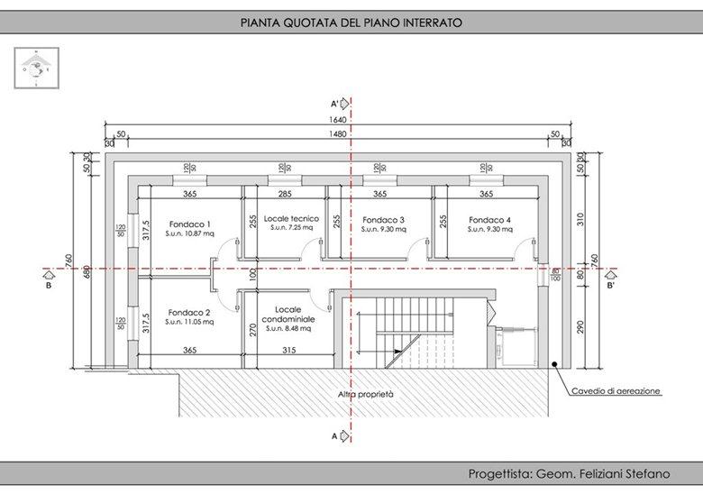 Demolizione  e ricostruzione edificio residenziale
