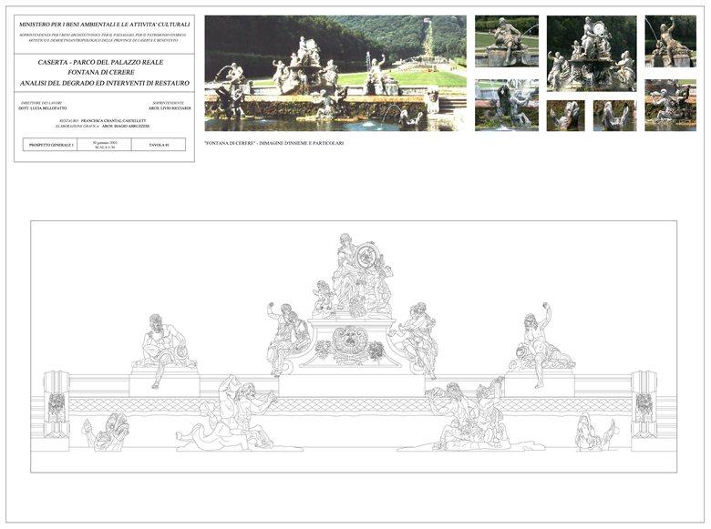 Restauro Fontana di Cerere - Reggia di Caserta