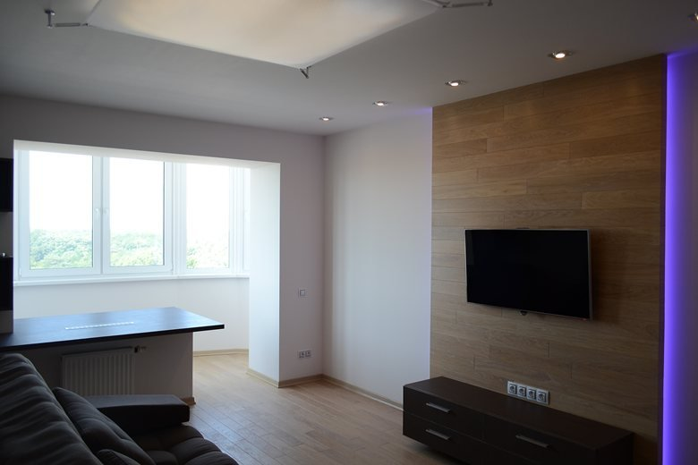 The apartment is 50 square meters in Dnepropetrovsk.