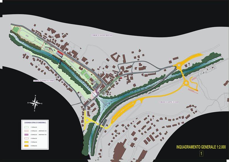 RIQUALIFICAZIONE DELL'AREA URBANA DI SILLA (Gaggio Montano - BO) - CONCORSO (progetto 3° classificato)