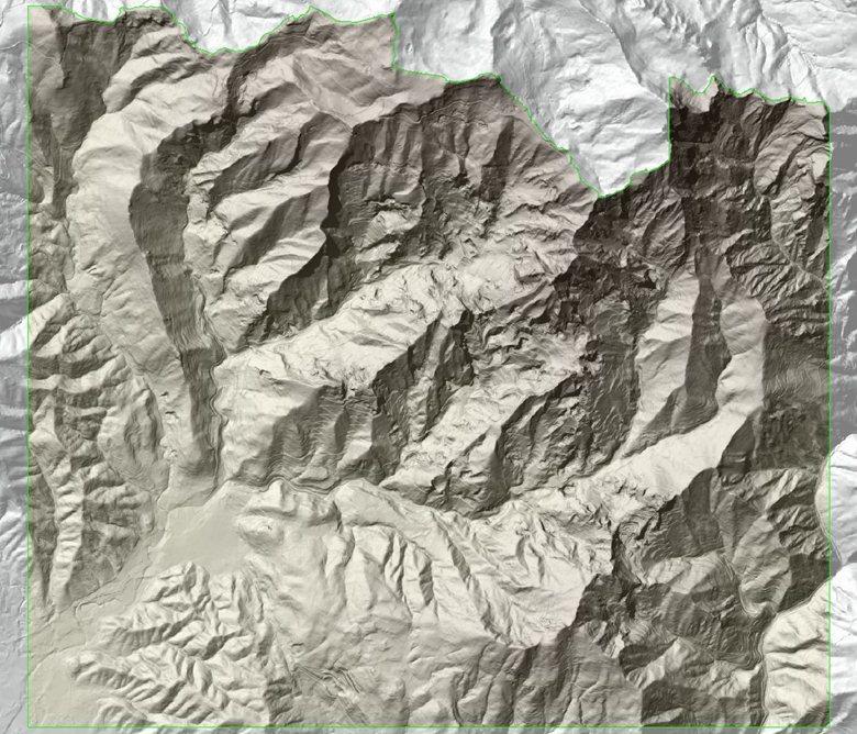 DTM 1:2.000 del Bacino Marmifero di Carrara e Massa