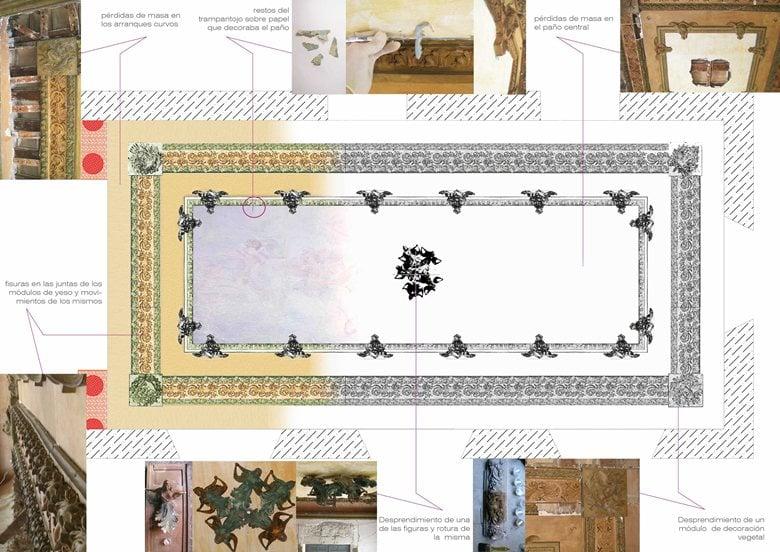 Estudio del estado de conservación de la sala Noble y yesos decorativos del Palacio de Labradores.