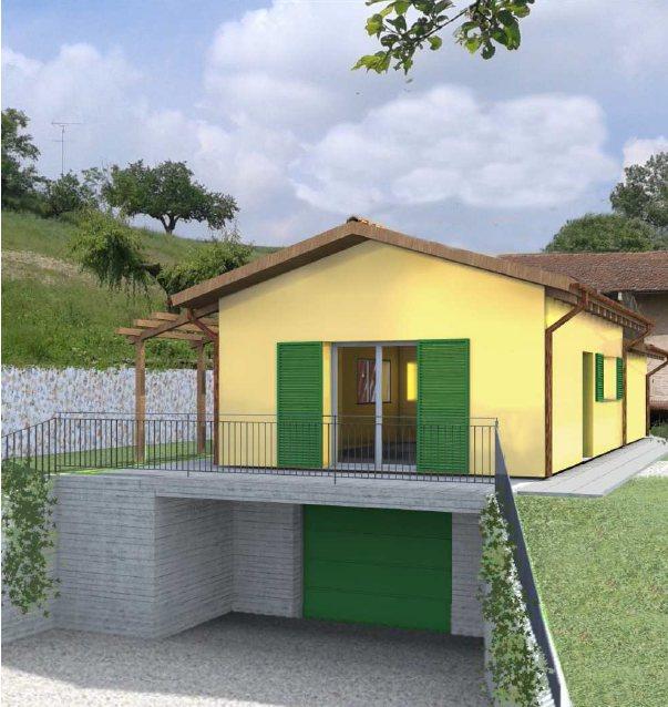 Ristrutturazione edilizia con demolizione e ricostruzione edificio di civile abitazione in area agricola