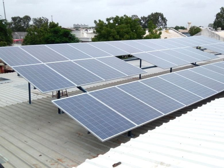 25KWp Rooftop Grid-Tied solar power plant at AKSAR FOOD MACHINE LLP