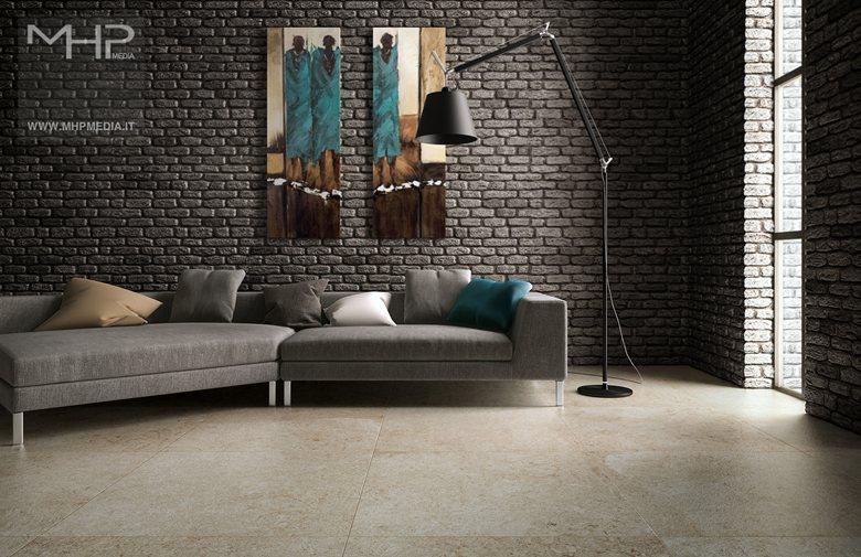 3D rendering   Interior Design Soggiorno #2