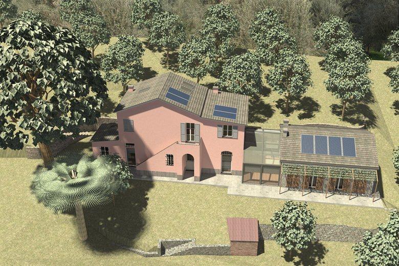 Recupero di edificio rurale e nuovo ampliamento a Sestri Levante (GE)