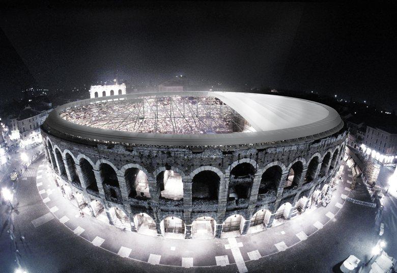 Concorso internazionale di idee per la copertura dell'Anfiteatro Romano Arena di Verona - 2° classificato