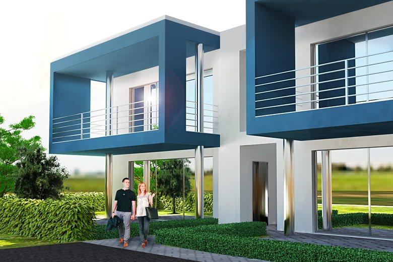 Rendering palazzina residenziale n 6 unit abitative for Palazzine moderne