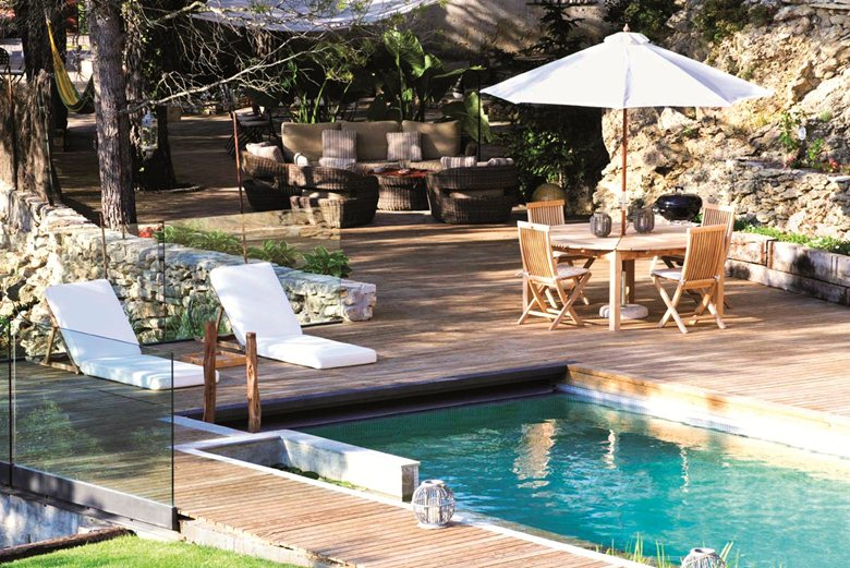 Natural water pool in Spain