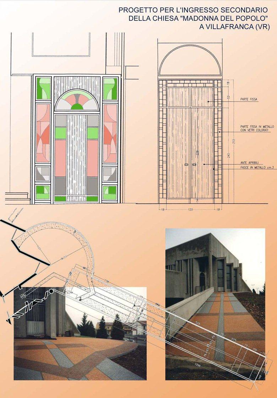 """Progetto per l'ingresso secondario della Chiesa """"Madonna del Popolo"""" a Villafranca (VR)"""