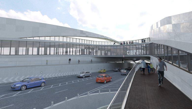 """Проект многофункционального надземного пешеходного перехода """"Стерх"""""""