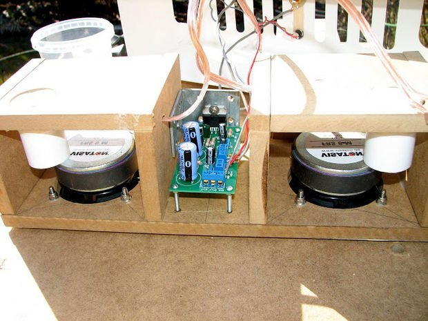 An Ikea Magazine Rack  becomes a Kvissle Bookend Audio Boom Box