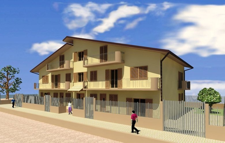 Progetto per la realizzazione di un fabbricato costituito da cinque unità abitative