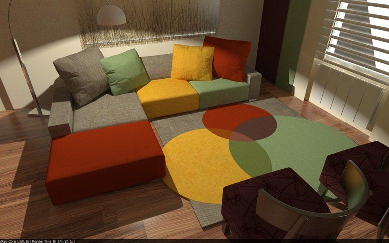 Duplex: living Comedor y dormitorio