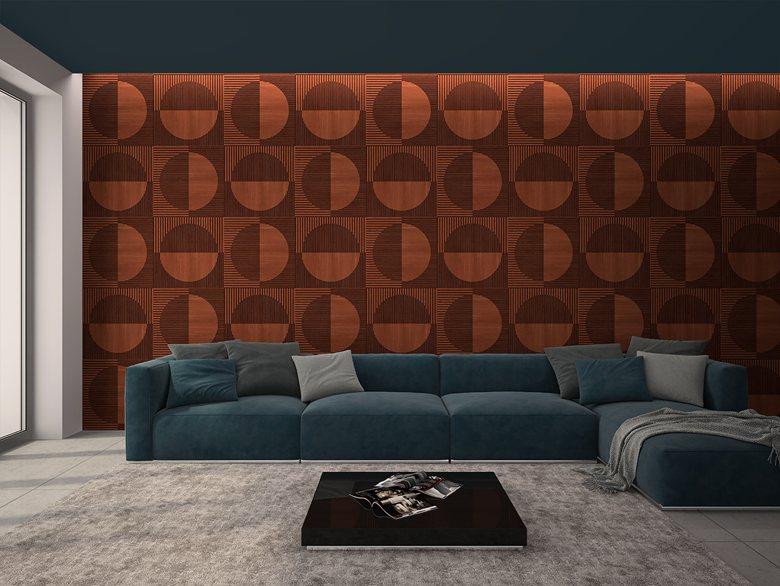 3D wall in bedroom