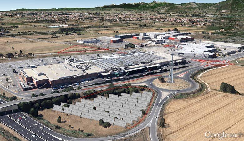 Visualizzazione progetto interventi nella zona commerciale Navacchio