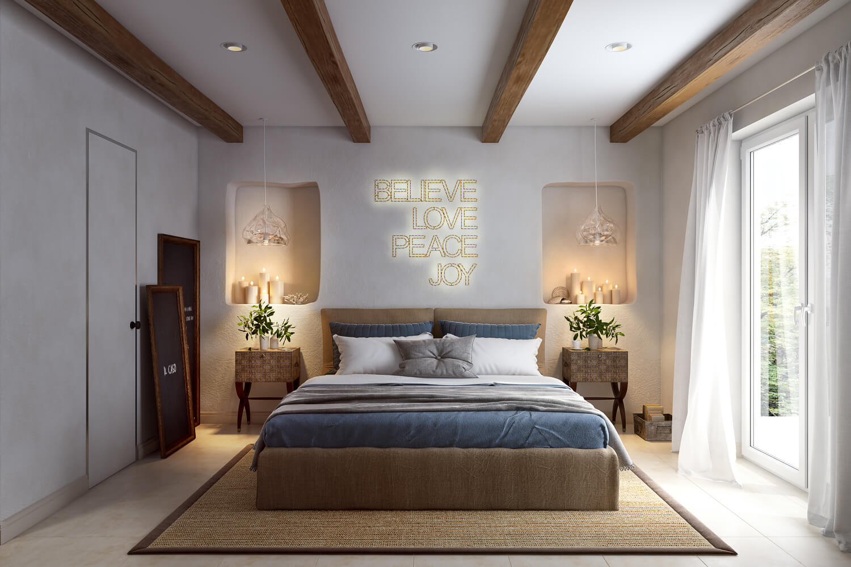 3d Visualisation For A Cozy Bedroom Design Archicgi