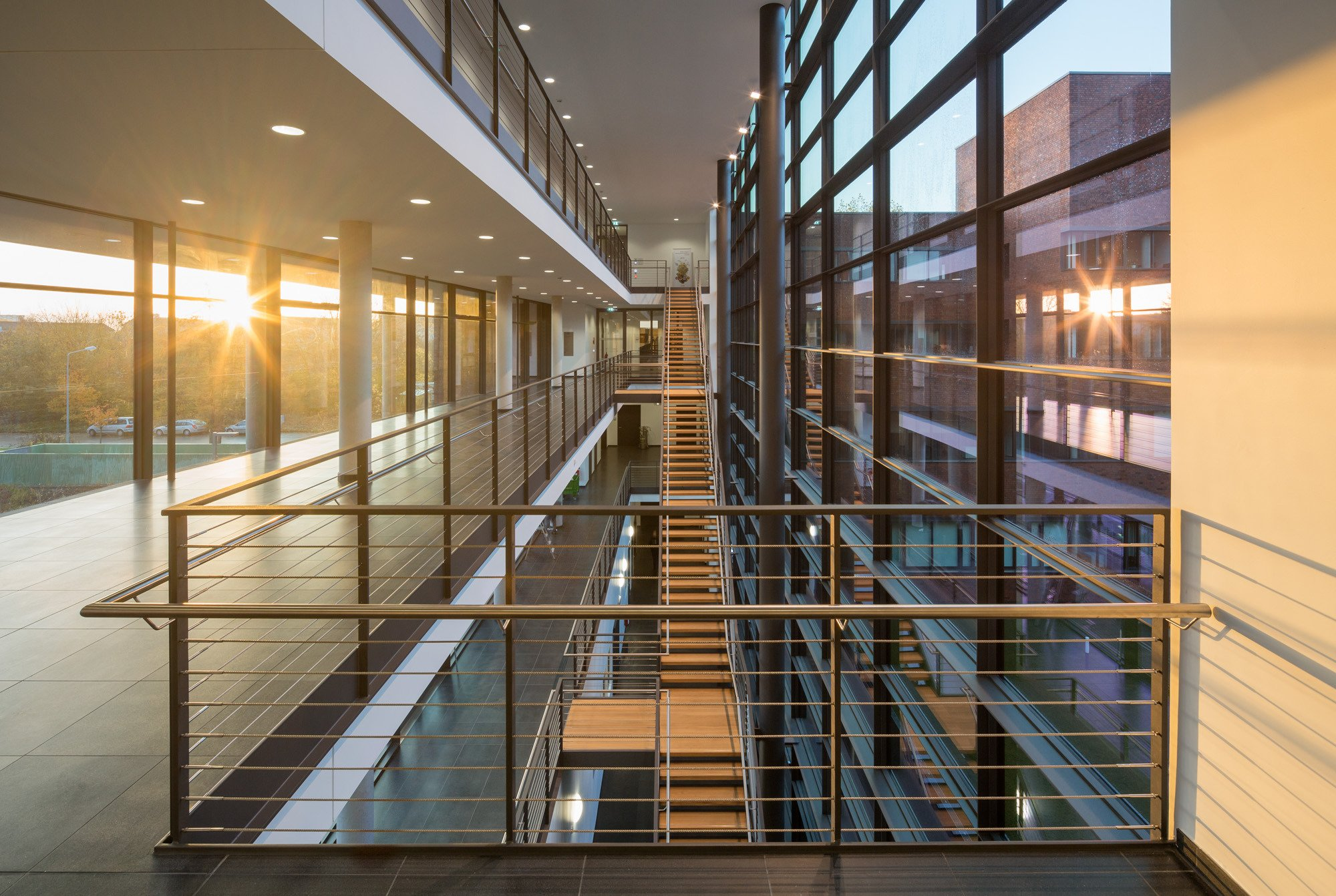 Smart Railings At Rostock University Carl Stahl Architecture