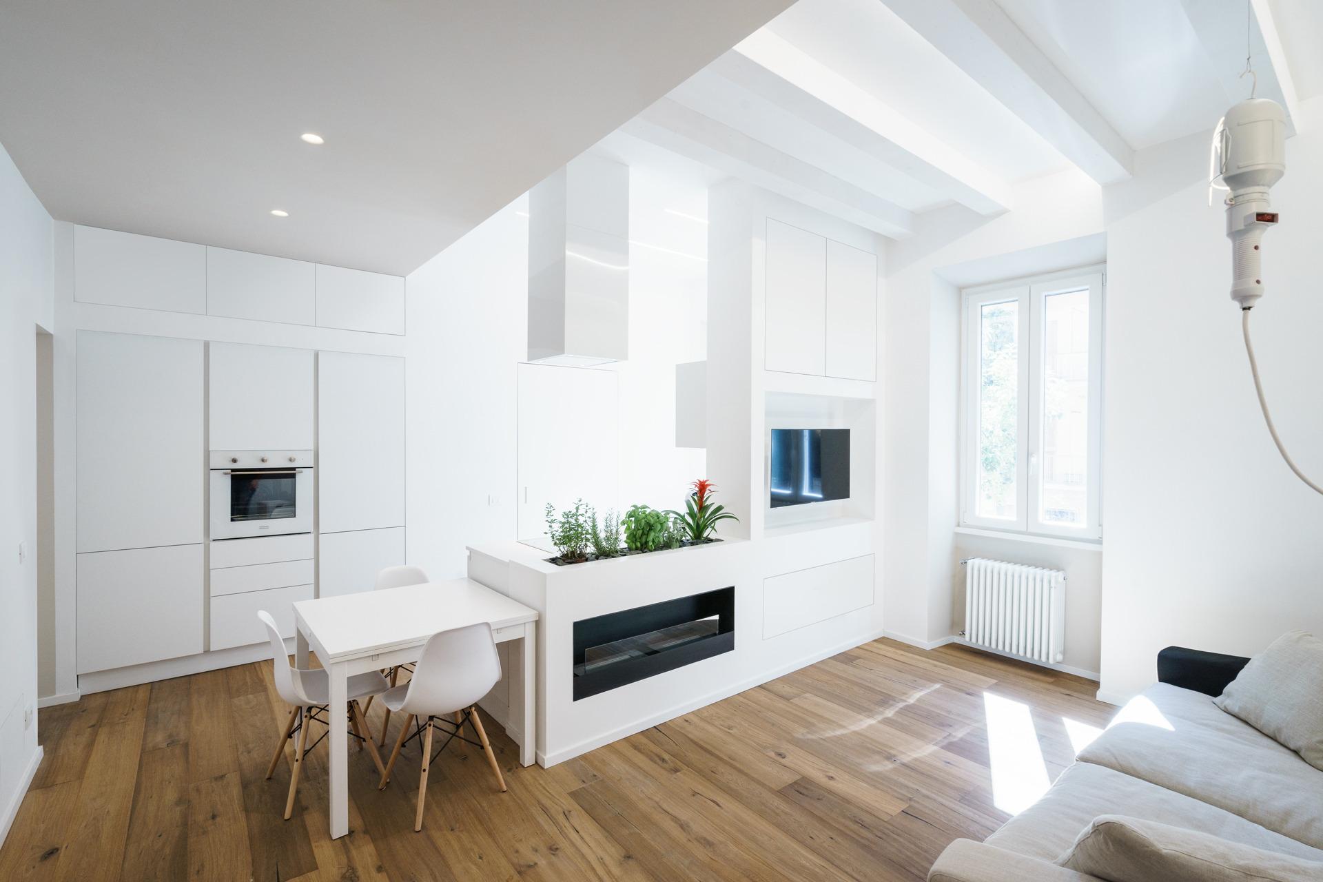 Parete Attrezzata Tortora E Bianco ethereal house | brain factory - architecture & design