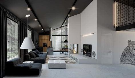 Black White House Home Design