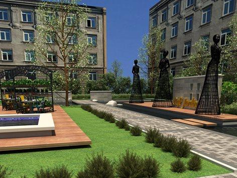 Aménagement extérieur : jardin, terrasse,restaurant et ...