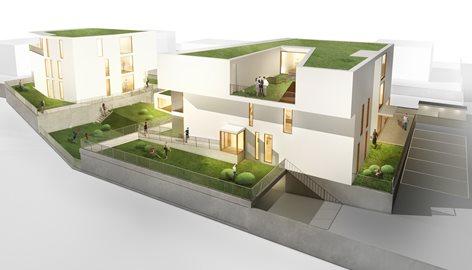 """Concorso di Progettazione per la nuova costruzione  di 14 alloggi nella  zona d'espansione C3–""""Malaun"""" a Silandro (BZ)"""