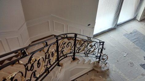 Ringhiera Per Scala Interna In Villa Ferreria D Arte Iron