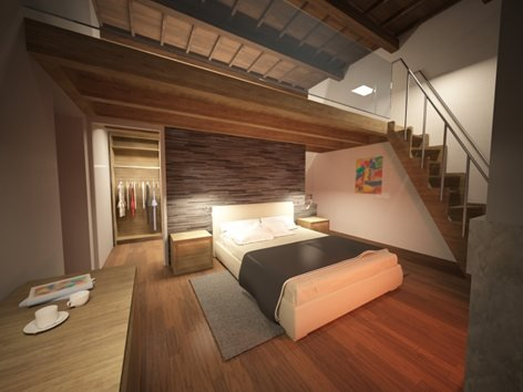Progetto camera da letto con soppalco | Arch. Carmelo Di Salvo