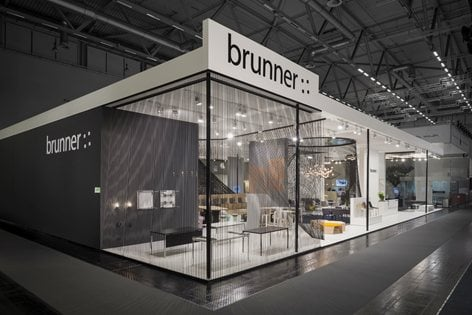 Exhibition Stand Architecture : Brunner exhibition stand for the orgatec ippolito fleitz
