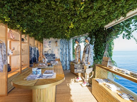 Dior pop-up store, Capri
