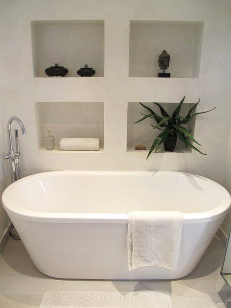 Salle de bain en béton blanc | INSIDE CREATION