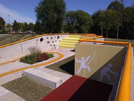 Riqualificazione di un ecocentro in parco sportivo