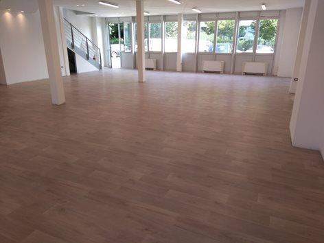 Pavimentazione per palestra in PVC effetto legno