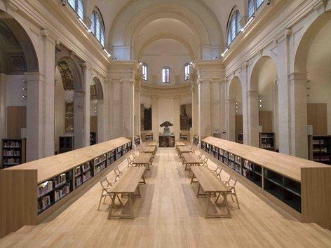 The Carisbo Foundation Library in the church of S.Giorgio in Poggiale of Bologna