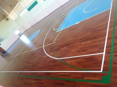 Pavimentazione sportiva in parquet