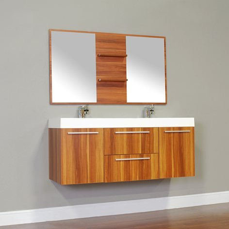 Alya Bath At 8047 C 54 Double Modern, Modern Bathroom Vanities For Less