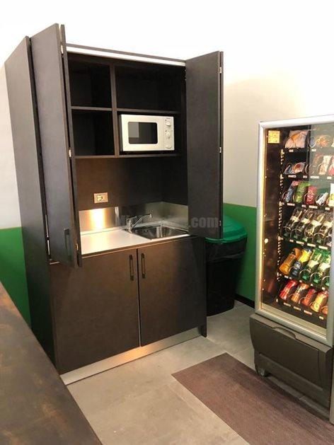 Mini cucine a scomparsa monoblocco, mini cucina da cm. 124 ...