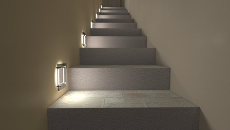 Progettazione di una scala, studio dei materiali e illuminazione notturna