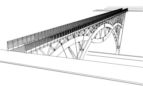 Ponte ciclopedonale sul fiume Piave
