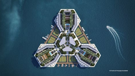 Floating Island concept for Foreign Workers