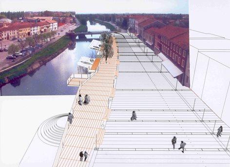 """Concorso di Progettazione .""""Sistemazione e Riqualificazione della Piazza Comunale e della riva destra del fiume Lemene"""". Segnalato"""