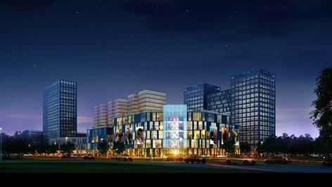 Nuovo centro direzionale e mall commerciale Phoenix City a Ordos