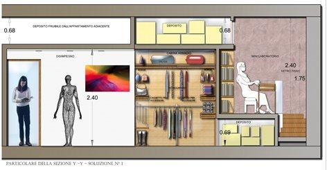 Progetto di una camera da letto con arredi | Enza Sperduto