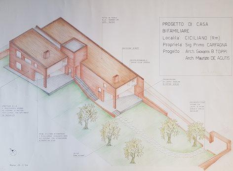 Una villa bifamiliare tra gli ulivi