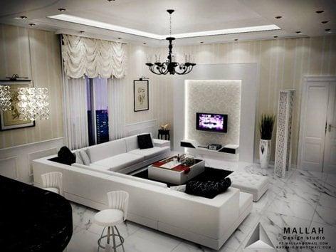 my Work -3d Max - Interior Design - villa al dammam - | Mallah