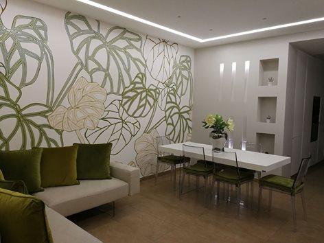 Living Room  Green Flower