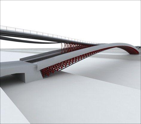 Progetto preliminare ed esecutivo di una passerella pedonale sulla Senna a Parigi (Francia)