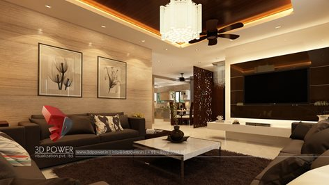 3d Rendering Designing Of The Rich Class Home Interior Threed Power Visualization Rahul