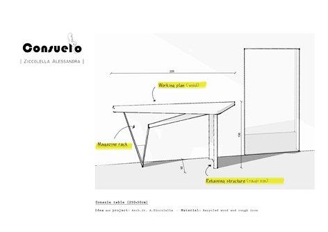 CONSUELO - Tavolo Console
